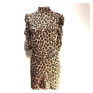 Vintage 1980's leopard print dress Small